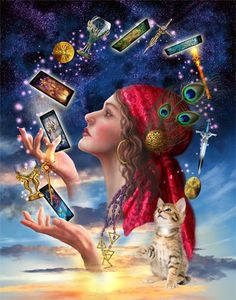 your tarot deck reading table setup - Google Search