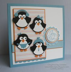 I& been waiting patiently to get my hands onto the wonderful new SU Owl Punch, having seen sooo . Christmas Cards To Make, Xmas Cards, Owl Punch Cards, Paper Punch Art, Karten Diy, Owl Card, Stamping Up Cards, Winter Cards, Paper Cards