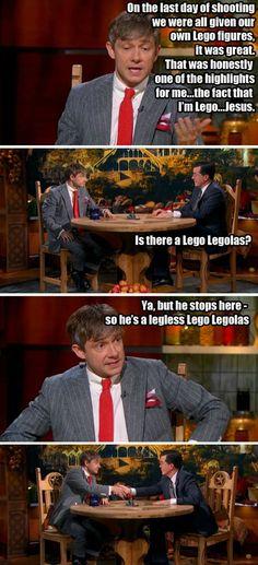 Martin Freeman and Stephen Colbert everyone…