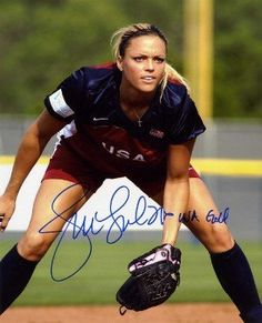 Jennie Finch signed Olympic Team USA 8x10 Photo USA GOLD by Athlon Sports Collectibles. $29.00. Jennie Finch pitched for the USA national softball team and won the gold medal at the 2004 Summer Olympics and a silver medal at the 2008 Summer Olympics. Although she is listed on the roster as a pitcher, Finch sometimes plays first base. She is regarded as the most famous softball player in history. Jennie Finch has hand autographed this Olympic Team USA 8x10 Color Pho...
