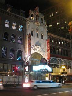 Boston Opera House at night