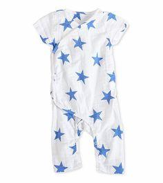 f58d359bb25 Aden + Anais Short Sleeve Kimono One-Piece - Ultramarine Star (6-9 Months)