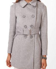 Wool-Blend Pea Coat   FOREVER 21 - 2027706172