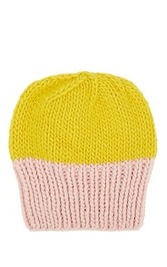 0c78e797d88 Albertus Swanepoel Women s Two-Tone Wool Beanie - Yellow