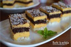 Barbi konyhája: Erdélyi raffaello szelet Deserts, Barbie, Drinks, Food, Desserts, Meal, Dessert, Eten, Drink