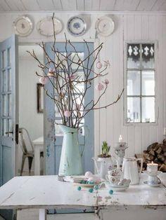 shabby chic kitchen designs – Shabby Chic Home Interiors Casas Shabby Chic, Shabby Chic Mode, Shabby Chic Style, Parisian Chic, Shabby Chic Colors, Cottage Chic, Cottage Style, Shabby Cottage, Style At Home