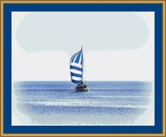 Catamaran Cross Stitch Pattern by Avalon Cross Stitch on Etsy