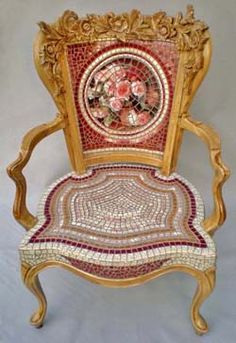 Antique Mosaic Chair