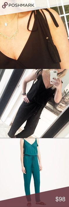 """J. Crew tassel jumpsuit Beautiful tassel details at shoulders!  Like new! Side pockets.  Drawstring waist.  Fits more like a large than a medium.  55"""" from top of bodice to leg opening. 27"""" inseam, waist 17"""" uncinched, 20"""" bodice.  No trades. Reasonable offers welcome Note: 20% off bundles of 2+ items in my closet! J. Crew Other"""