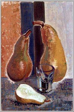 Mario Tozzi 1959: Pere Parlanti. Olio su Tela cm.42,5x27,5 - Collezione Privata - Archivio Generale numero 2156.