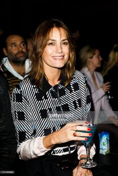 Yasmin Le Bon attends the Julien Macdonald show during London Fashion Week Autumn/Winter 2016/17 at on February 20, 2016 in London, England.