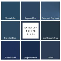 8 Blue Paints For Your Front Door — Blue Door Living – Decor is art Door Paint Colors, Blue Paint Colors, Exterior Paint Colors For House, Front Door Colors, Paint Colors For Home, Exterior Colors, Blue Front Doors, Front Door Entrance, Exterior Front Doors