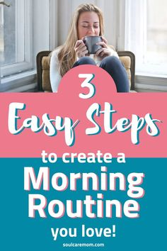 Discover 3 Easy Steps to Create a Self Care Morning Routine You Love so you can create balance and feel calm as a mom! How To Have A Good Morning, Self Care Activities, Practice Gratitude, Happy Mom, Self Care Routine, Life Is Hard, Walking In Nature, Guided Meditation, Positive Mindset
