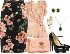 """Ruffles and Roses"" by amy-phelps ❤ liked on Polyvore"