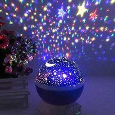 This self-rotating projector lamp lets you meet the sky at close range!Ideal for decorating wedding, birthday, parties. Great for romantic night lamp and decoration light use, best for home, bedroom, children rooms3 Modes: Button A contr...