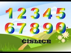 (101) Čísla - číslice - učíme se číslice - říkanky - pro děti - YouTube