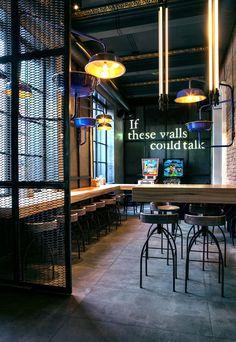 Dogs&Tails Bar and Café in Kiev, Ukraine by Makhno Studio | Yatzer