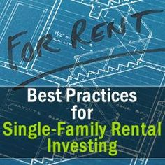 Best Practices for Single-Family Rental Investing Discover more at the picture link Investment Group, Investment Tips, Real Estate News, Real Estate Houses, Tampa Homes, Best Practice, Earn Money From Home, Real Estate Investing, Property Management