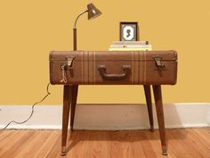 Simple suitcase project. Nice side table.