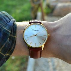 Classic Gold on the wrist. Free shipping worldwide - www.bonvier.com #bonvier #watches #orologi