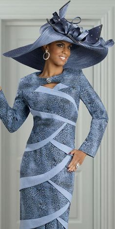 If you're looking for womens church hats or couture hats, this is the place to be! Our elegant ladies church hats have truly original details and design making each one unique. Church Suits And Hats, Women Church Suits, Church Hats, Suits For Women, Church Attire, Denim Jacket With Dress, Denim Skirt, All Jeans, Fancy Hats