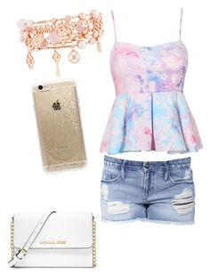 A fashion look from September 2015 featuring pink shirt, short shorts and handbag purse. Browse and shop related looks. Black Orchid, Rifle Paper Co, Henri Bendel, Fashion Looks, Dating, Michael Kors, Purses, Park, Shorts