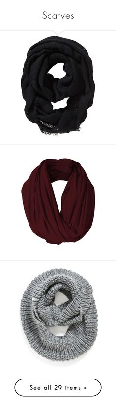 """""""Scarves"""" by allthequietones ❤ liked on Polyvore featuring accessories, scarves, black, old navy scarves, knit scarves, infinity scarves, loop scarves, loop scarf, other and extra"""