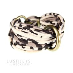 Fabric Leopard Bracelet Bangle Braided Cuff Unique Jewelry