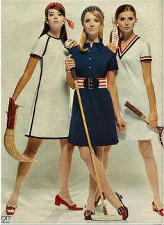 Red White and Blue Sports Wear 1960s
