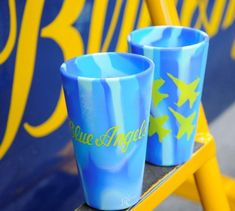 SILIPINT - BLUE ANGELS   16 OZ SILICONE PINTS TWO-SIDED BLUE ANGELS ART   THICK AND STURDY PINT FLEXIBLE BUT NOT WEAK GREAT OUTER SURFACE GRIP   GREAT FOR: PATIO CAMPGROUNDS BEACH CAR SCHOOL HOME LITERALLY ANYWHERE!!!