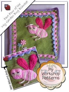 My Garden Bug Blanket - Part Four: Bumble Bee Square