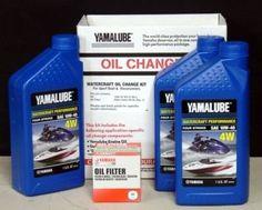Yamaha Yamalube 10W40 PWC Watercraft Oil Change Kit LUBWTRCGKT00 ** Want additional info? Click on the affiliate link Amazon.com on image.