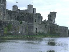 Wales: Caerphilly Castle is one of the great medieval castles of western Europe. Several factors give it this pre-eminence - its immense size (1.2h), making it the largest in Britain after Windsor, its large-scale use of water for defense and the fact that it is the first truly concentric castle in Britain - plus it is leaning ;-)