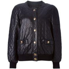 Chanel Vintage quilted bomber jacket