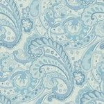 Ocean Paisley Drapery and Upholstery Fabric