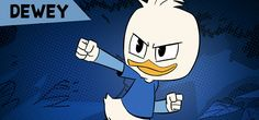 Dewey Duck, the middle triplet