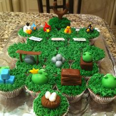Angry bird cupcakes requested by my sweet 6 year old for his birthday.