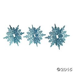 Blue Glitter Snowflakes Centerpiece 2pc Party Supplies Canada