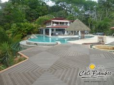 Beautiful Cali Bamboo composite decking in Costa Rica