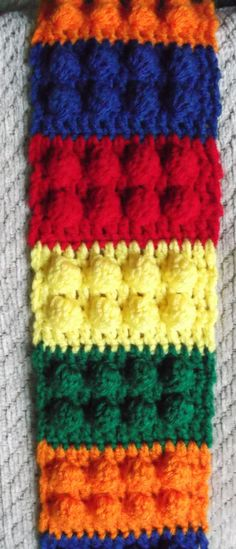 Gauge? Lego Inspired Crochet Scarf   ??outline it in dark grey or black??