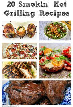 20 Smokin' Hot Grilling Recipes via CherishedBliss.com