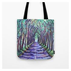 Kauai Tree Tunnel Tote Bag ❤ liked on Polyvore featuring bags, handbags and tote bags