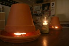 DIY Heater will keep you warm and cut energy cost. It just takes tealight candles and terra cotta pots!