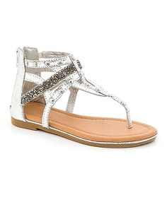 Look at this COCO Jumbo Silver Stud Sandal on #zulily today!