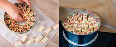 Párky vtěstíčku sdomácím sýrovým dipem - Proženy Mini Four, Dairy, Pizza, Cooking Recipes, Cheese, Fours, Decor, Fine Dining, Finger Food Recipes