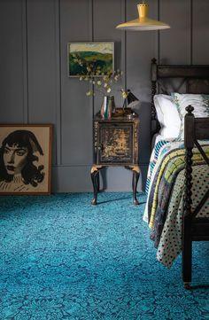 Alternative Flooring with Liberty Fabrics Quirky B Strawberry Meadow