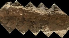"""NASA's Curiosity rover saw this rock outcrop dubbed """"Missoula,"""" near Marias Pass on Mars. Image released July 23, 2015. (NASA/JPL-Caltech/MSSS). Looks like it could be a piece of wood."""