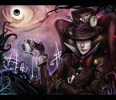 Mad hatter in Wonderland