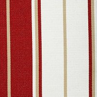 Summertide Red Coral from the Cushion/Furniture/Drapery Fabrics Bella-Dura Stripes collection.