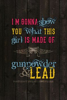 I'm going home, gonna load my shotgun.. You want a fight? Well now you've got one, and you ain't seen me crazy yet. <3